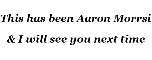 Aaron Morrsi